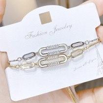 Personalized Shell Bracelet Korean Style Bracelet Female Bracelet 3A Zircon Pull Bracelet Jewelry 042