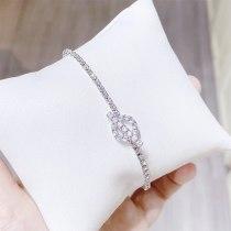 Korean Style Simple Personalized Bracelet Fashion Zircon Crystal Bracelet Female Temperament Student All-Match Mori Hand Jewelry