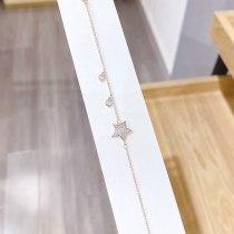 Korean Five-Pointed Star Bracelet Women's Fashion Simple Personality Women's Bracelet Full Diamond Micro Inlaid Zircon Jewelry 007
