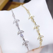Summer New Mermaid Bracelet Fashion Creative Fishtail Pull Shell Bracelet for Women Hand Jewelry Wholesale