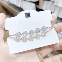 Korean Fashion 3A Zircon Bracelet Inlaid Pull Adjustable Size Female Bracelet Wholesale Bracelet Jewelry