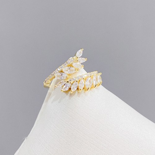 Wheat Open Ring Fashion Simple Index Finger Ring Niche Personality Knuckle Ring Tail Ring Jewelry