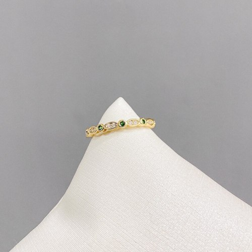 Personality Zircon Ring Cold Style Silver Jewelry Creative Simple Fashion Diamond Ring Open Ring