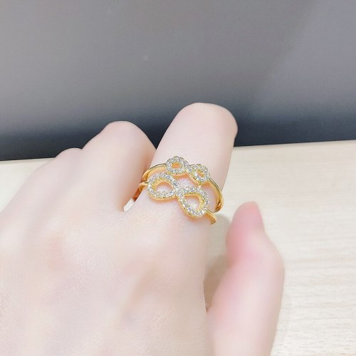Bow Ring Women's Special-Interest Design High-Grade Index Finger Ring Exquisite Opening Adjustable Ring