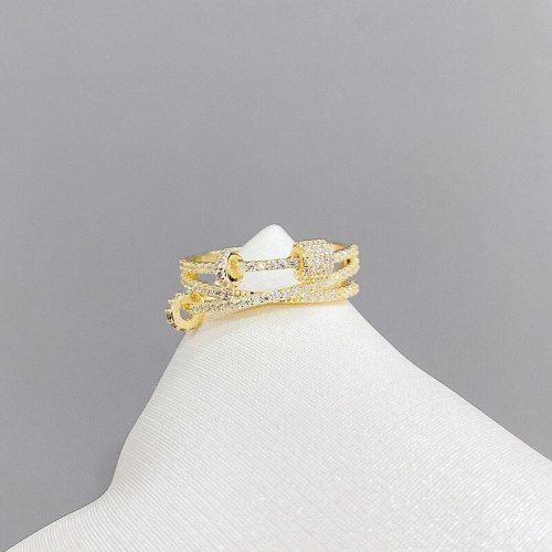 Micro-Inlaid Zircon Ring 2021 New Index Finger Ring Simple Fashion Personality Temperament Open Ring