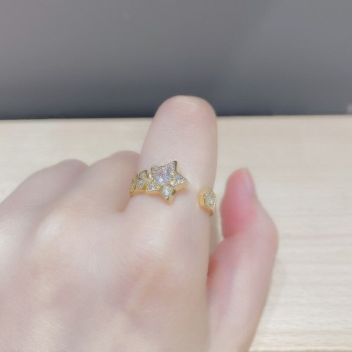 Pentagram Ring Special-Interest Design Index Finger Personality Affordable Luxury Cold Wind Opening Adjustable Ring