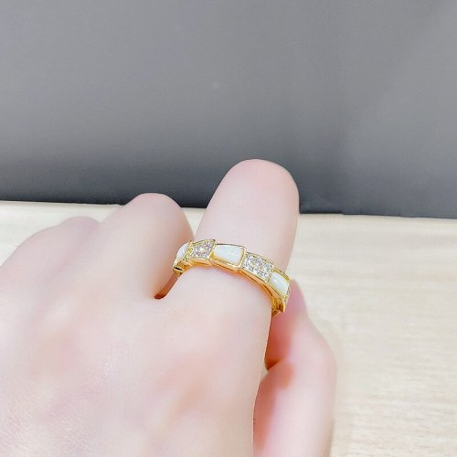 Shell Ring Personality Snake Bone Open Ring Special-Interest Design Index Finger Ring Fashion Ring