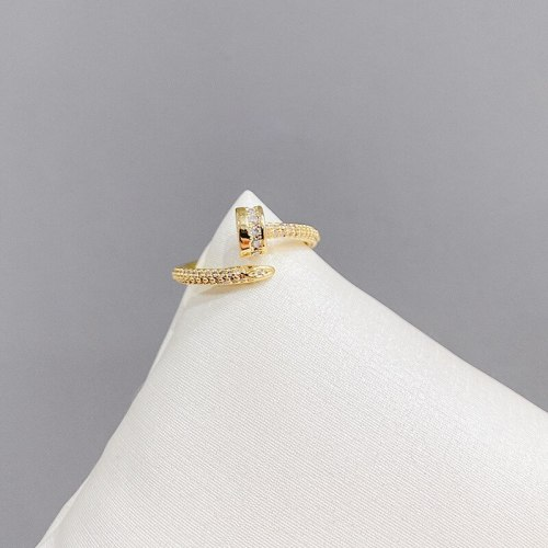 2021 Diamond-Embedded Personalized Nail Ring Cold Style Fashion Sense Index Finger with Opening Ring