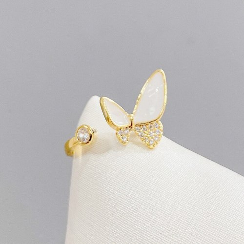 Butterfly Ring Female Fashion Personalized Minority Design Cold Wind Open Adjustable Ring