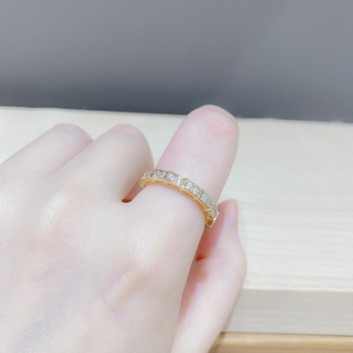 European and American Snake-Shaped Diamond-Studded Ring Copper-Plated Gold Snake Bone Creative Opening Ring