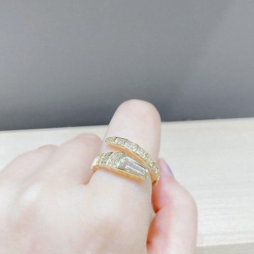 Fashion Snake Bone Ring Index Finger Elastic Opening Full Diamond Snake Ring Couple Rings Men and Women Jewelry