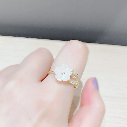 Fashion Small Fresh Flowers Daisies Open Ring Personality Creative SUNFLOWER Index Finger Ring Little Finger Ring