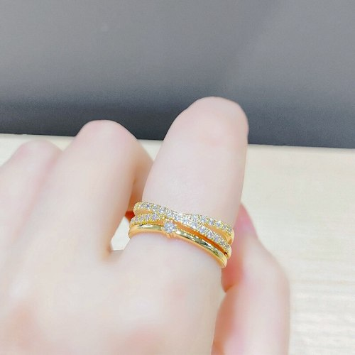 Personalized Minority Cross Double-Layer Ring Adjustable Opening Fashion Trend Index Finger Ring Women