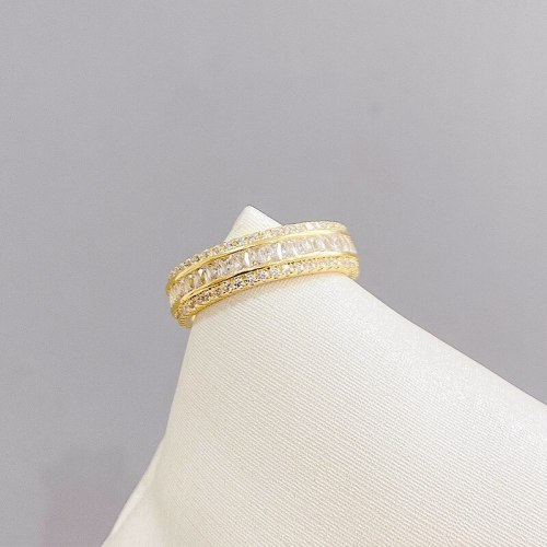 Simple Micro-Inlaid Diamond Ring Special Interest Light Luxury Index Finger Ring Ornament