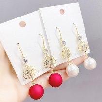 S925 Silver Hook Korean Internet Influencer Pearl Earrings Long Elegant Stud Earrings Personality Simple Tassel New Earrings