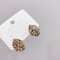 French Retro Internet Hot Earrings Eardrops Sterling Silver Needle Tide Special-Interest Design Personalized Earrings