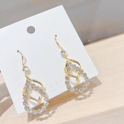European and American Exaggerated Earrings Women's Temperamental Long Eardrops Sterling Silver Needle Personalized Ear Studs