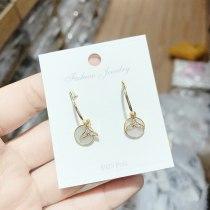 Fashion Trendy Ins Fishtail S925 Silver Pin Stud Earrings Women's Earrings Korean New Short Earrings