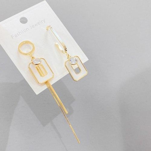 Asymmetric Earrings for Women Korean Elegant Internet Popular Earrings New Trendy Earrings 925 Silver Pin Earrings