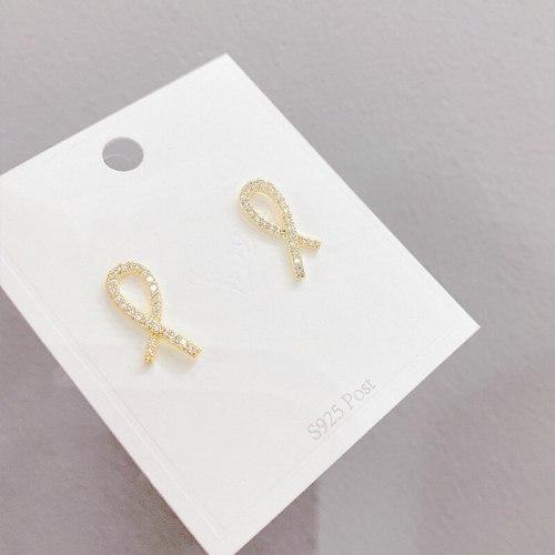 Personality Design Ear Studs Sterling Silver Needle Korean Temperament Earrings New Trendy Ear Rings Women