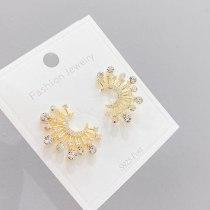 Sterling Silver Needle Korean Simple Cold Style Zircon Stud Earrings Niche Silver Pin Earrings Women