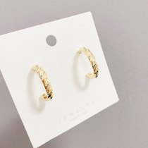 Sterling Silver Needle European and American Fashion Geometry Pattern Twist Earrings Simple Metal Earrings All-Match Earrings