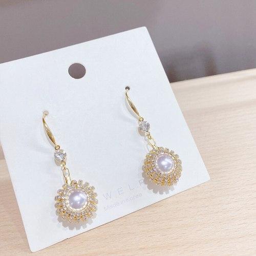 Korean Style Elegant Long Fringed Pearl Earrings Sterling Silver Needle Trendy Earrings Internet Celebrity Earrings Eardrops