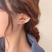 Super Fairy Mori Sweet Exquisite Zircon Leaf Ear Clip C- Shaped Ear Ring Earless Ear Clip Adjustable Earrings for Women