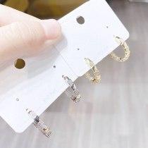 Sterling Silver Needle Female Stud Earrings Trendy Earrings Opal Earring Ornament