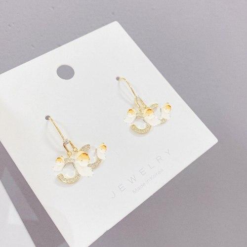 Stud Earrings New 925 Silver Needle Korean Simple Ornament for Women