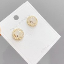 S925 Silver Vintage Stud Earrings Women's Simple Winter Elegant Earrings Jewelry