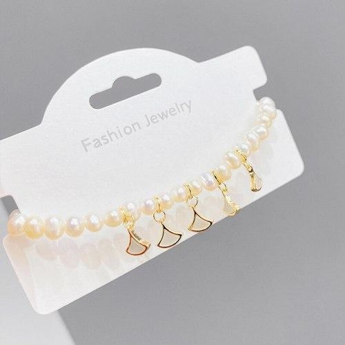 Freshwater Pearl Bracelet Simple Temperament Small Skirt Pendant French High Sense Bracelet Bracelet