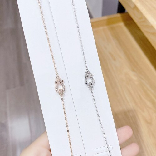 Internet Celebrity Horseshoe Bracelet Women's Micro-Inlaid Diamond Simple All-Match Hand Jewelry Wholesale