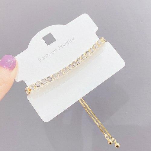 Fashion Zircon Crystal Pull Bracelet Female Korean Simple Personalized Temperament Bracelet