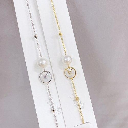 New Korean Style Fritillary Bracelet Fashion Pearl Bracelet Electroplated Real Gold Bracelet Ornament