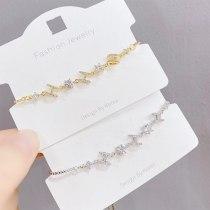 New H Letter Adjustable Pull Bracelet Micro Inlaid Zircon Bracelet Korean Style Fashion Ornament