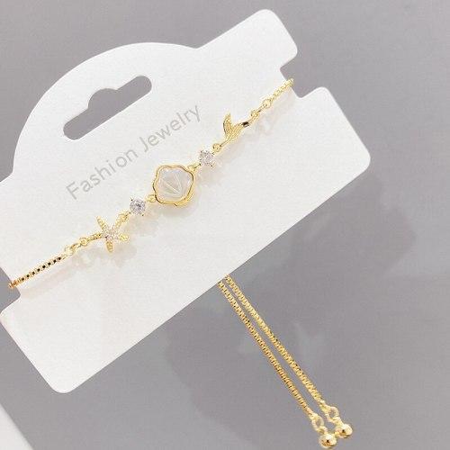 Korean Style Fashion Bracelet Women's Shell Pull Bracelet Hot Selling Bracelet Ornament