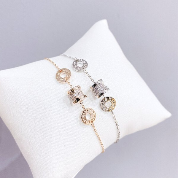 Fashion Temperamental Bracelet Women's Japanese and Korean New Internet Celebrity Versatile Micro Inlaid Zircon Jewelry