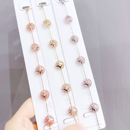 New Compass Bracelet Simple Personality Pairs Wear Simple Eight Awn Star Bracelet Fashion Wholesale