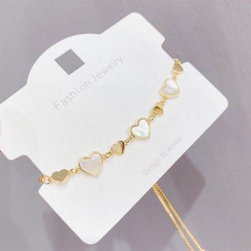 Adjustable Pull Bracelet Heart Love Heart Bracelet Female Ins Trendy Design Bracelet Maiden Fresh Korean Style Bracelet
