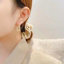 Fashion 925 Silver Needle U-Shaped Earrings French Style Personality Retro Ear Clip Vachette Clasp Ear Studs Earrings