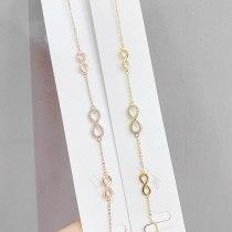 Korean Fashion Bracelet Female Micro Inlaid Zircon Bracelet Fresh Bow Bracelet Wrist Ring Jewelry Wholesale