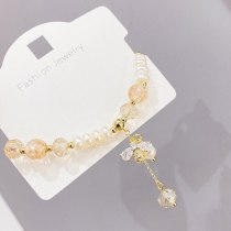 Freshwater Pearl Micro Inlaid Zircon Little Bee Bracelet Korean Simple Bracelet Ins Fashion Simple Bracelet Hand Jewelry