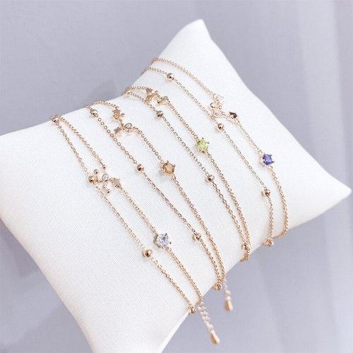 Popular Zircon Twelve Constellations Bracelets European and American Diamond New Card Bracelet