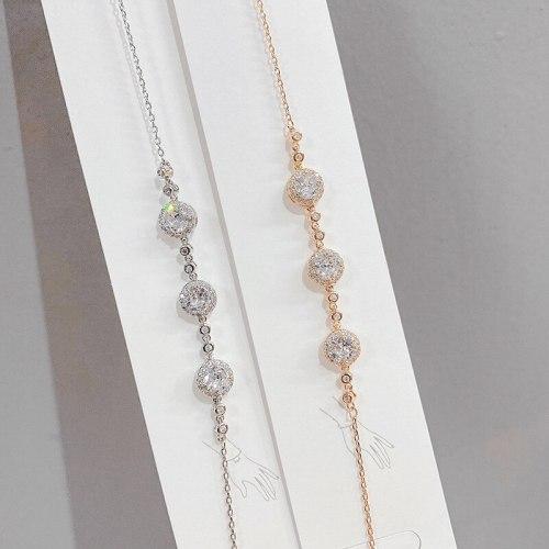 New Fashion Korean Bracelet European and American Fashion Refined Zircon Temperament Wild Bracelet Jewelry for Women