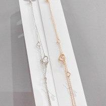 Korean Fashion Heart Shape with Diamond Bracelet Cute Heart Bracelet Indie Pop Jewelry Gift