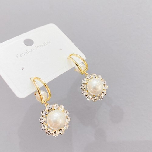 French Pearl Earrings Sterling Silver Needle Hot Korean Graceful Online Influencer Earrings Earrings for Women