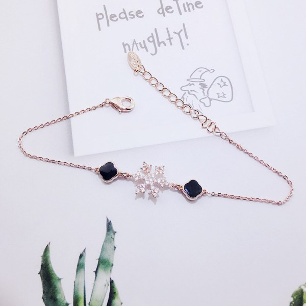 Rose Gold Plated Japanese and Korean New Fashion All-Match Bracelet Jewelry for Girls Snowflake Bracelet