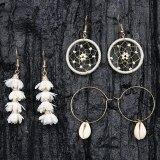 Earrings Set Korean Creative Personality Gold Shell Dreamcatcher Flower Earring Accessories