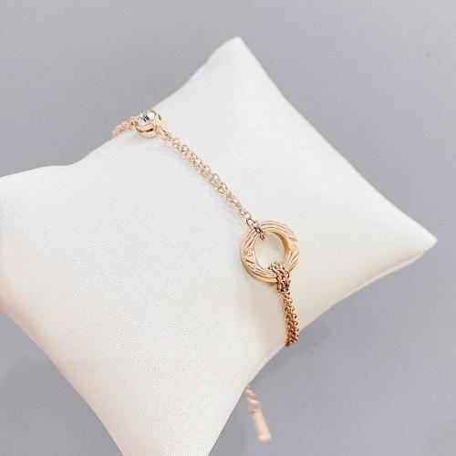 Korean Style Simple Titanium Steel Roman Digital Bracelet Personality Jewelry Bracelet Non-Fading All-Matching Accessories